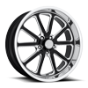 Rambler - u117 20x8 Gloss Black & Milled w/ Diamond Cut Lip
