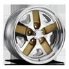 Saber - U437 18x9.5 Polished w/ Gold Accents