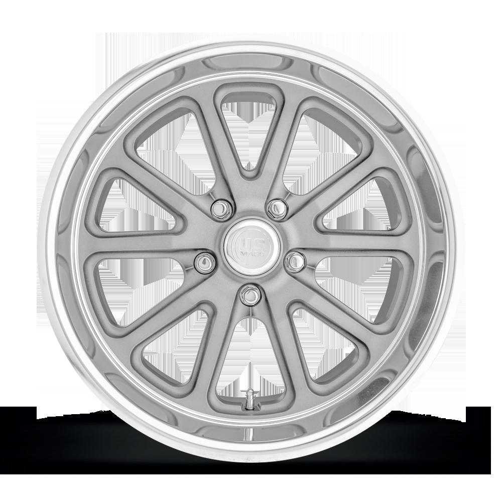 1 18x9.5 Us Mag Rambler U111 5x4.5 et1 GunMetal Matte Wheel